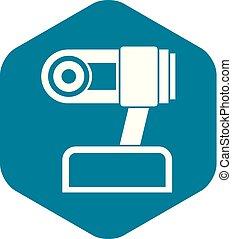 アイコン, webcam, スタイル, 単純である