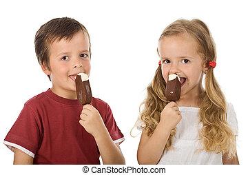 アイスクリーム, 子供たちが食べる