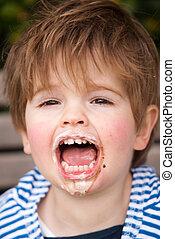 アイスクリーム, 食べること, 子供