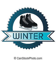 アイススケートをする