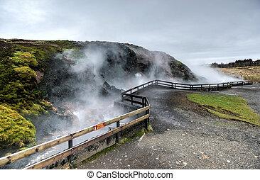 アイスランド, 地熱, deildartunguhver, 春