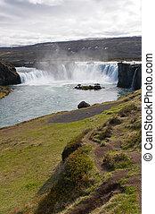 アイスランド, godafoss, 滝