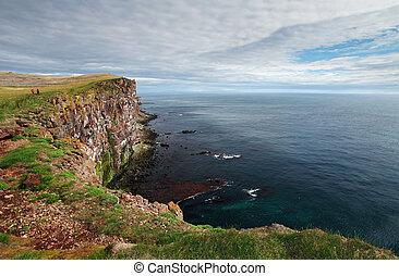 アイスランド, latrabjarg, -, 崖