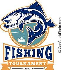 アイデンティティの バッジ, ロゴ, 釣り, トーナメント, ラベル
