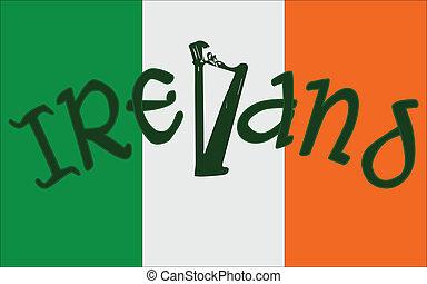 アイルランドの旗, ハープ
