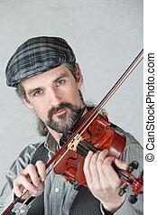 アイルランド, バイオリン, 遊び, 人
