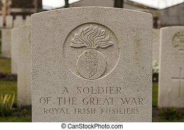 アイルランド, フィールド, 墓地, 偉人, イギリス, 兵士, フランダース, 新しい, 戦争