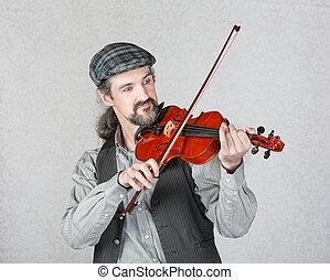 アイルランド, 実行, fiddler, ハンサム