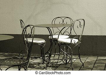 アウトドアのカフェ