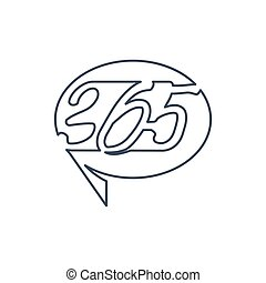 アウトライン, アイコン, balloon, ロゴ, 無限点, イラスト, コミュニケーション, 365
