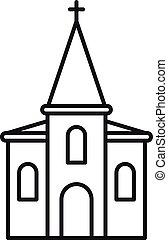 アウトライン, キリスト教徒, スタイル, アイコン, 教会