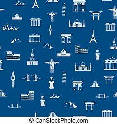 アウトライン, パターン, application., seamless, 図画, 魅力, あなたの, 世界
