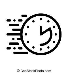 アウトライン, 時間, ベクトル, イラスト, 満了, アイコン