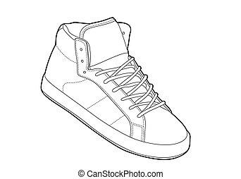 アウトライン, 靴