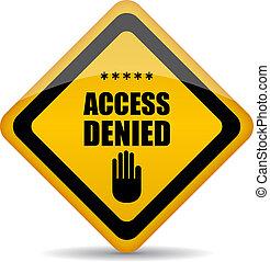 アクセス, ベクトル, 否定された, 印