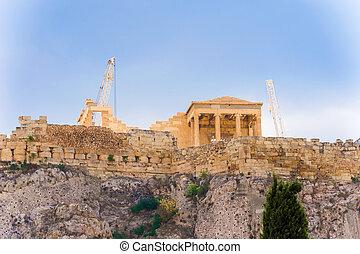 アクロポリス, 丘, 中に, アテネ, greece.