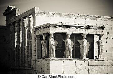 アクロポリス, caryatids, アテネ