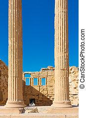アクロポリス, erechtheion, コラム, 寺院