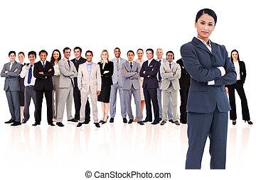 アジア人, 同僚, 背景, ビジネスマン