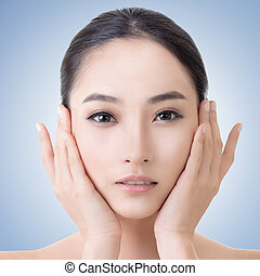 アジア人, 美しさ, 顔