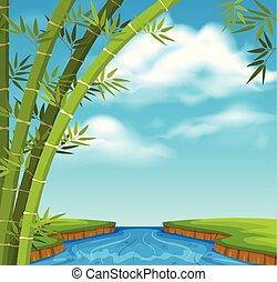 アジア人, 風景, 自然