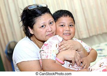 アジア人, son., 母