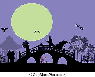 アジア, ∥において∥, 青, 風景