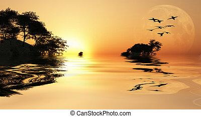 アジア, 日の出