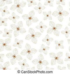 アジサイ, 花, パターン, seamless