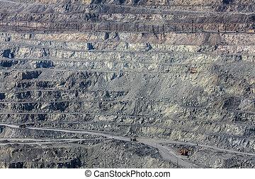アスベスト, 採石場