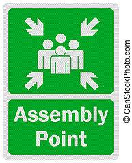アセンプリ, ', point', 印, 写真, 隔離された, 現実的, 白
