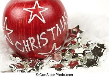 アップル, クリスマス, 星, 銀