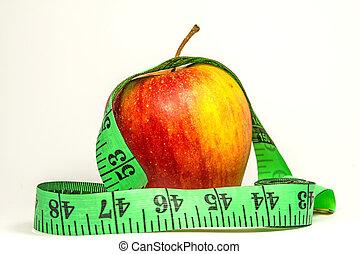 アップル, 測定, テープ
