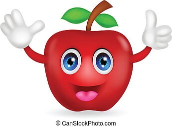 アップル, 赤, 漫画