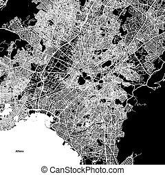 アテネ, ベクトル, 地図