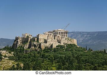 アテネ, greece., アクロポリス