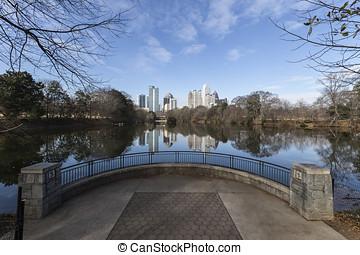 アトランタ, ピードモント, 公園, 都市の景観