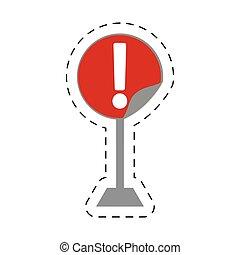 アドバイス, 一時停止標識, 注意, 禁止された, 交通, 道