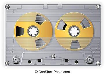 アナログ, オーディオ, 取わくを圧縮しなさい, ∥で∥, テープ, ベクトル