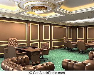 アパート, オフィススペース, 皇族, 贅沢, 内部, 家具