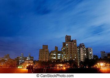 アパート, 現場, 夜