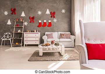 アパート, 飾られる, ∥ために∥, クリスマス