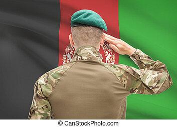 アフガニスタン, 力, シリーズ, 国民, -, 旗, 背景, 概念, 軍