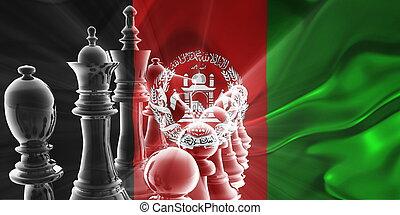 アフガニスタン, 旗, 波状, ビジネス戦略