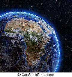 アフリカ, から, スペース