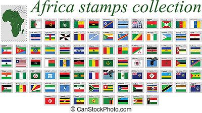 アフリカ, スタンプ, コレクション