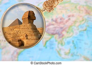 アフリカ, ピラミッド, スフィンクス, エジプト, ギザ