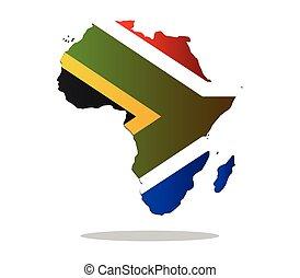 アフリカ, 地図, ∥で∥, 旗