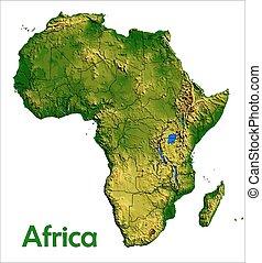 アフリカ, 大陸, 地図