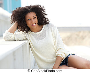 アフリカ 女, 屋外で, かなり, モデル